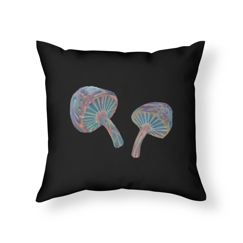 Rainbow Mushroom Home Throw Pillow by Elevated Space