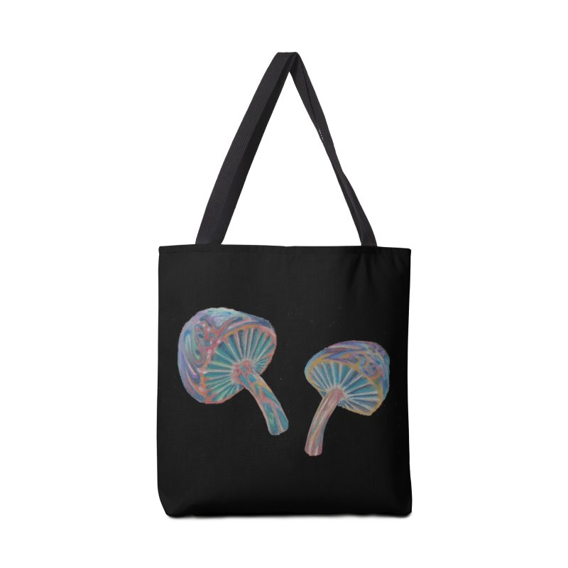 Rainbow Mushroom Accessories Tote Bag Bag by Elevated Space