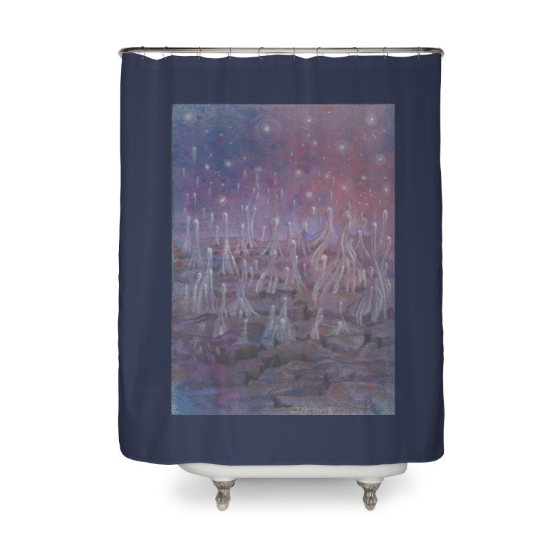 evaporate galaxy Home Shower Curtain by Elevated Space