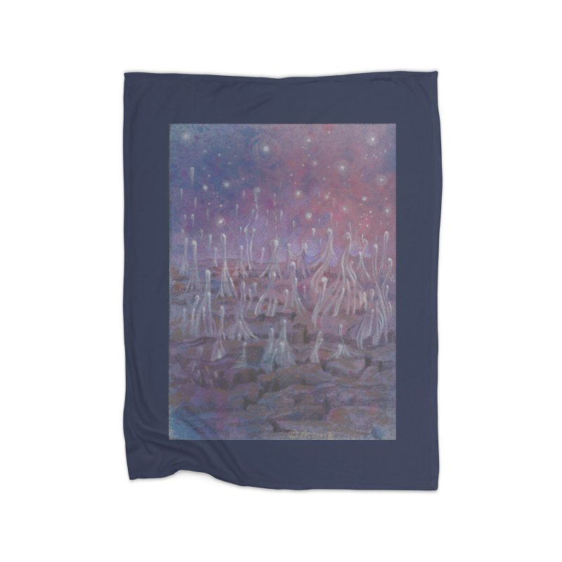 evaporate galaxy Home Fleece Blanket Blanket by Elevated Space