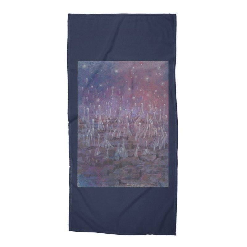 evaporate galaxy Accessories Beach Towel by Elevated Space