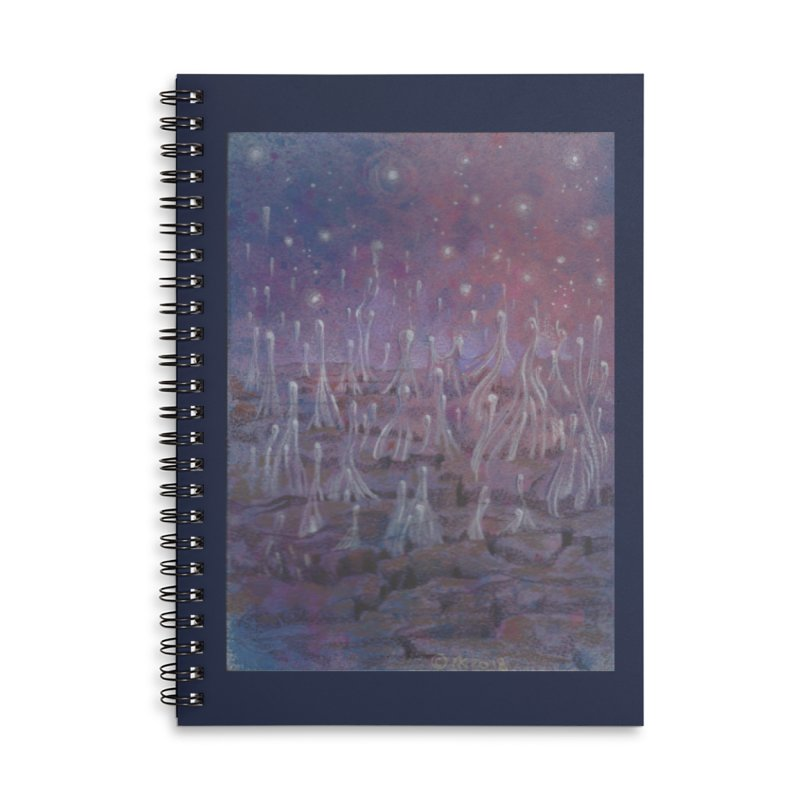 evaporate galaxy Accessories Lined Spiral Notebook by Elevated Space