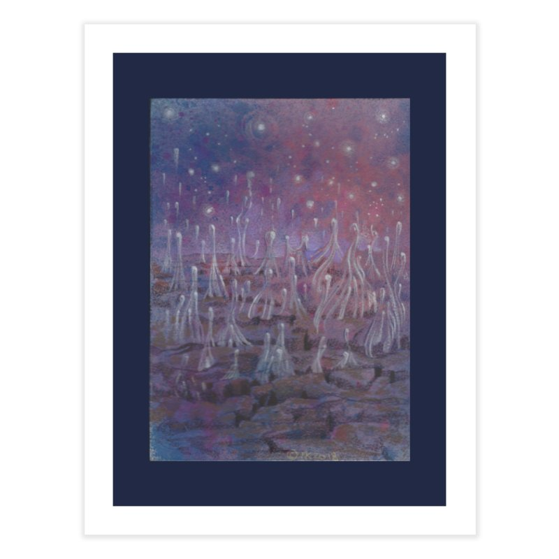 evaporate galaxy Home Fine Art Print by Elevated Space