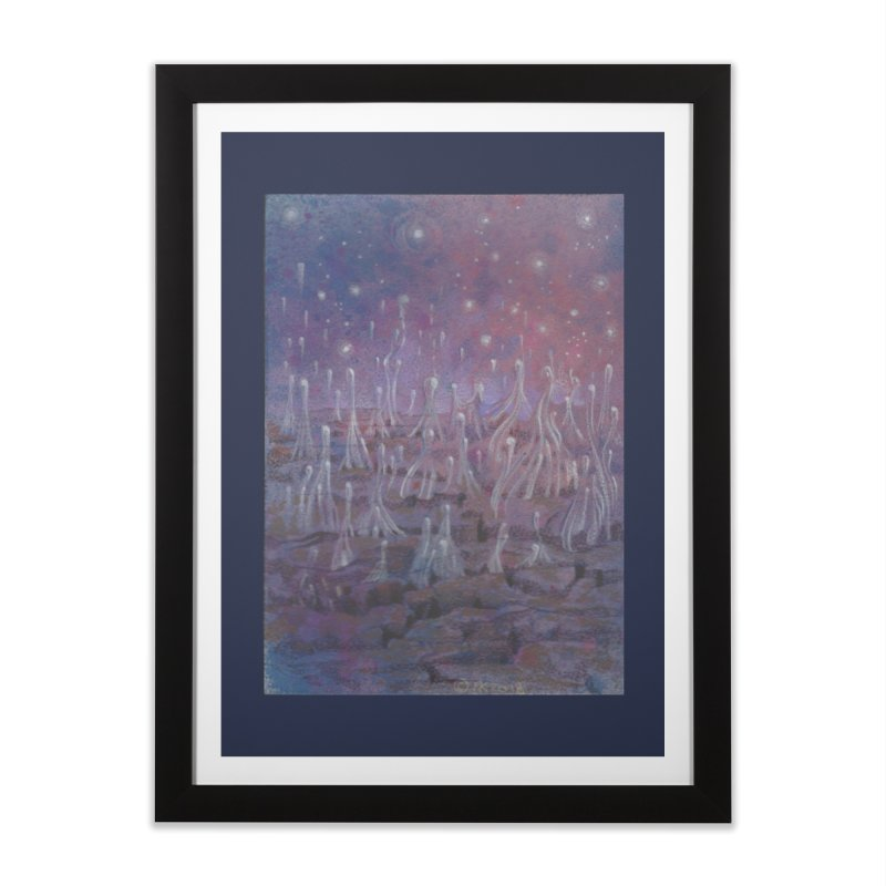 evaporate galaxy Home Framed Fine Art Print by Elevated Space