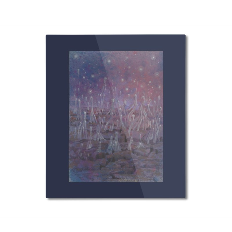 evaporate galaxy Home Mounted Aluminum Print by Elevated Space