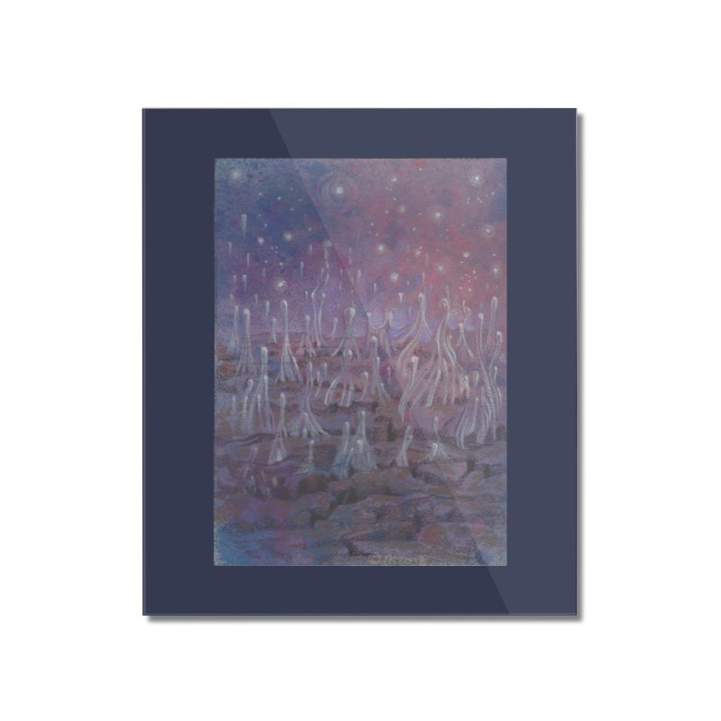 evaporate galaxy Home Mounted Acrylic Print by Elevated Space
