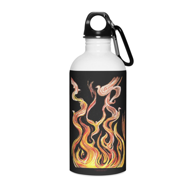 peace above the turmoil Accessories Water Bottle by Elevated Space