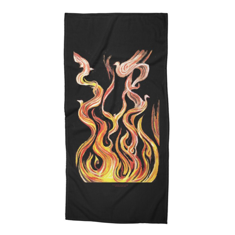 peace above the turmoil Accessories Beach Towel by Elevated Space