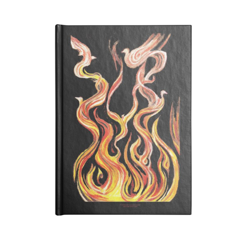 peace above the turmoil in Lined Journal Notebook by Elevated Space