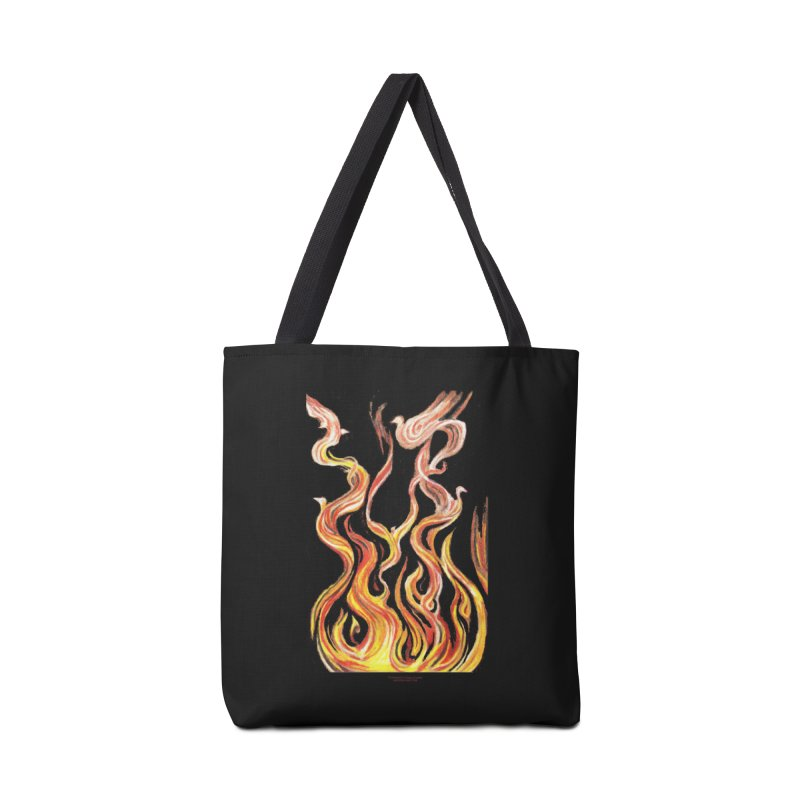 peace above the turmoil Accessories Tote Bag Bag by Elevated Space