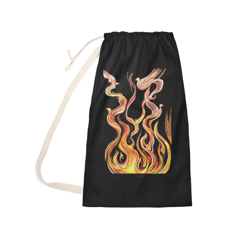 peace above the turmoil Accessories Laundry Bag Bag by Elevated Space