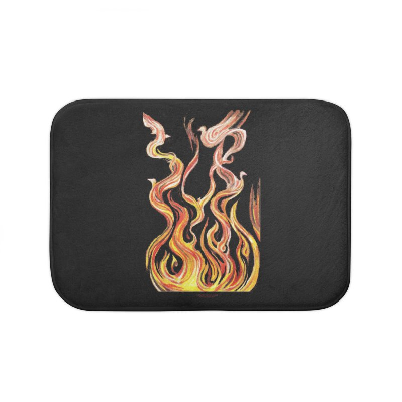 peace above the turmoil Home Bath Mat by Elevated Space