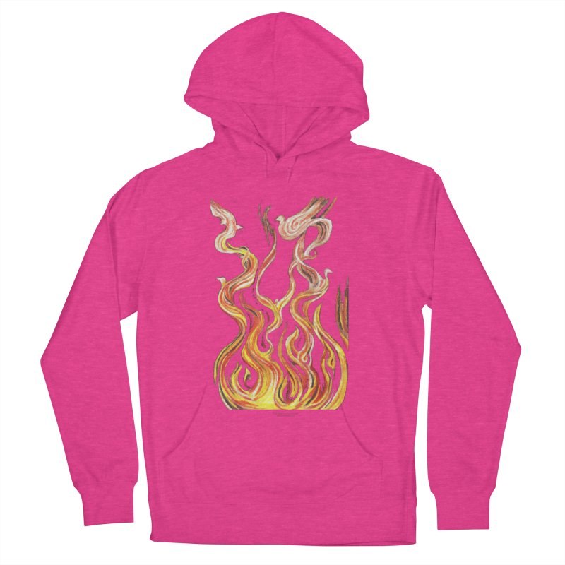 peace above the turmoil Women's French Terry Pullover Hoody by Elevated Space