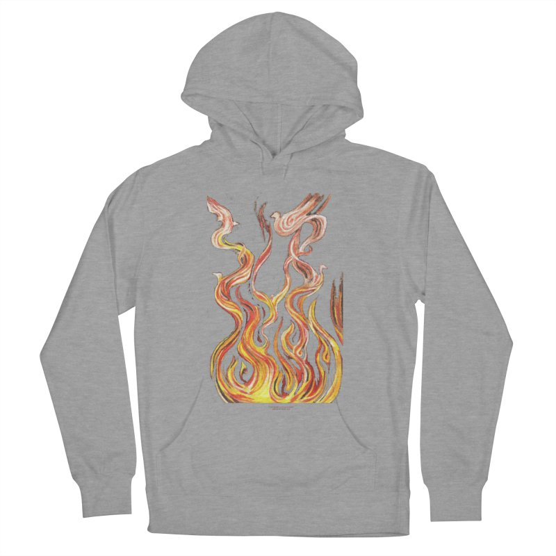 peace above the turmoil Men's French Terry Pullover Hoody by Elevated Space