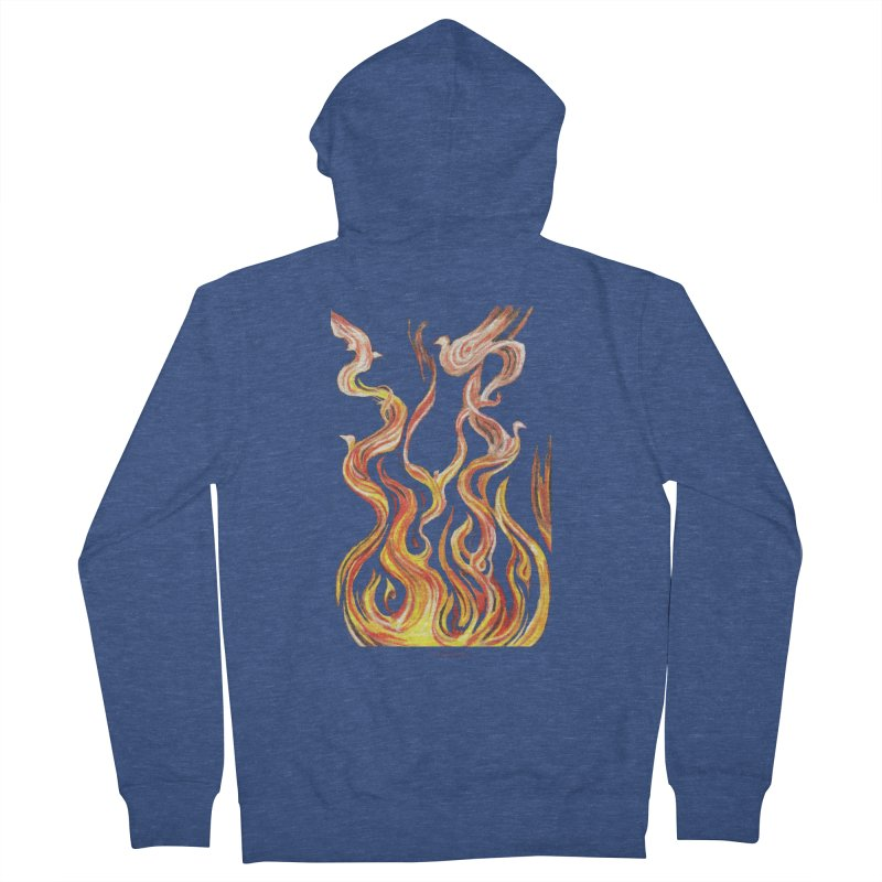 peace above the turmoil Women's French Terry Zip-Up Hoody by Elevated Space