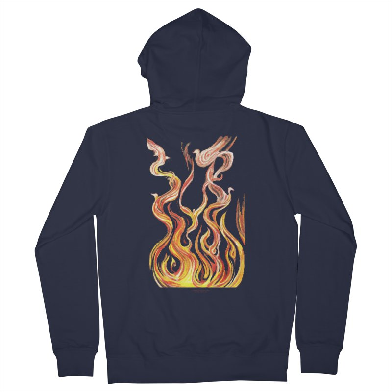 peace above the turmoil Men's French Terry Zip-Up Hoody by Elevated Space