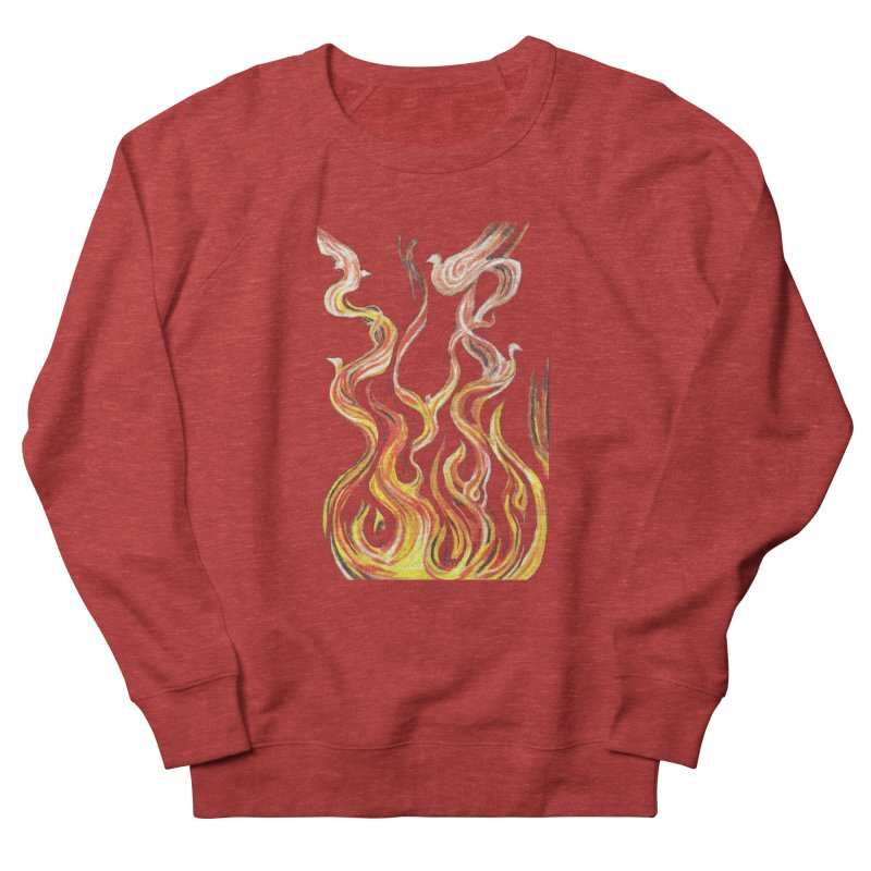 peace above the turmoil Women's French Terry Sweatshirt by Elevated Space