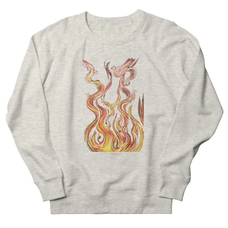 peace above the turmoil Men's French Terry Sweatshirt by Elevated Space