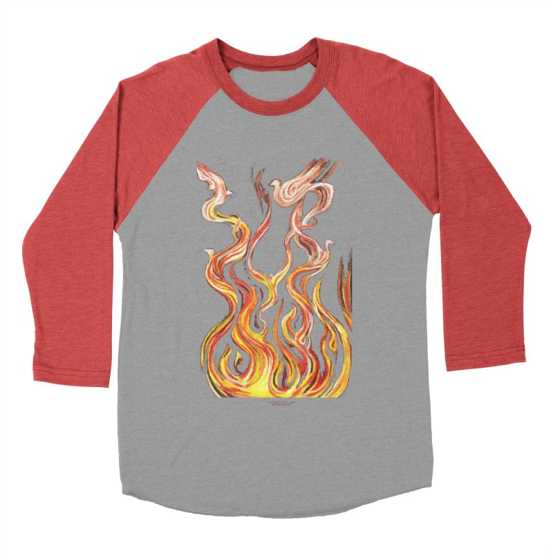 peace above the turmoil Men's Baseball Triblend Longsleeve T-Shirt by Elevated Space