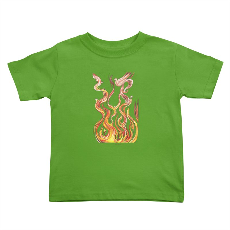 peace above the turmoil Kids Toddler T-Shirt by Elevated Space