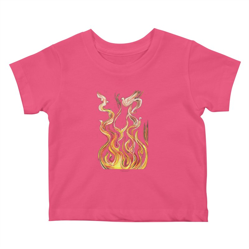 peace above the turmoil Kids Baby T-Shirt by Elevated Space