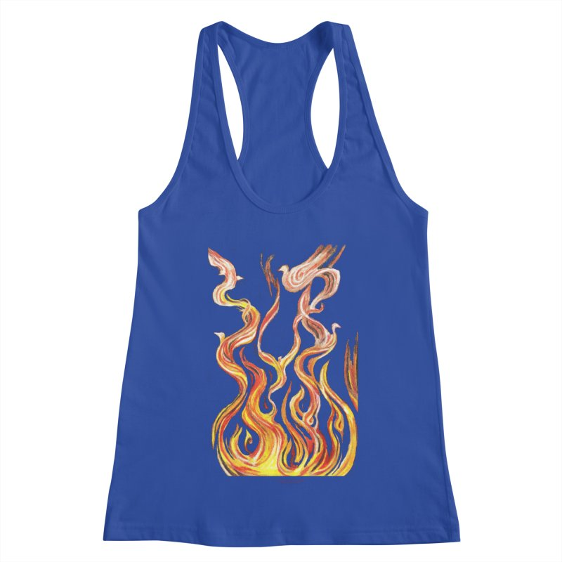 peace above the turmoil Women's Racerback Tank by Elevated Space