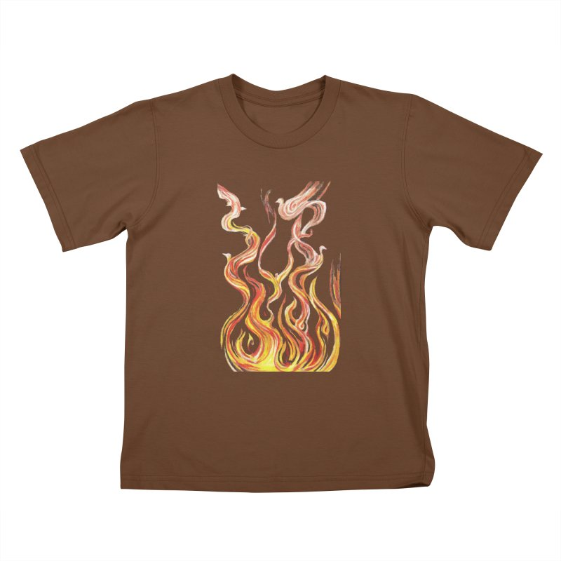 peace above the turmoil Kids T-Shirt by Elevated Space