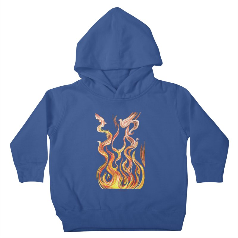 peace above the turmoil Kids Toddler Pullover Hoody by Elevated Space
