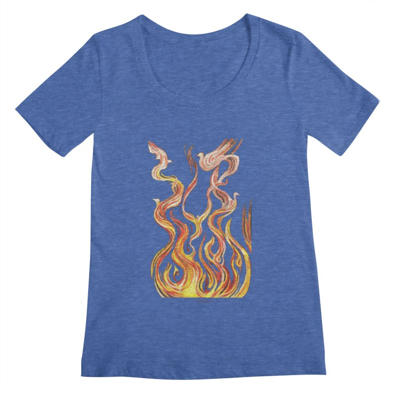 peace above the turmoil Women's Regular Scoop Neck by Elevated Space