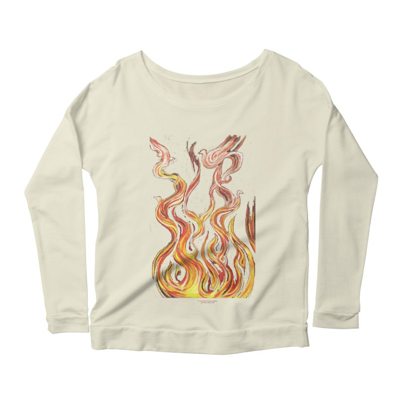 peace above the turmoil Women's Scoop Neck Longsleeve T-Shirt by Elevated Space