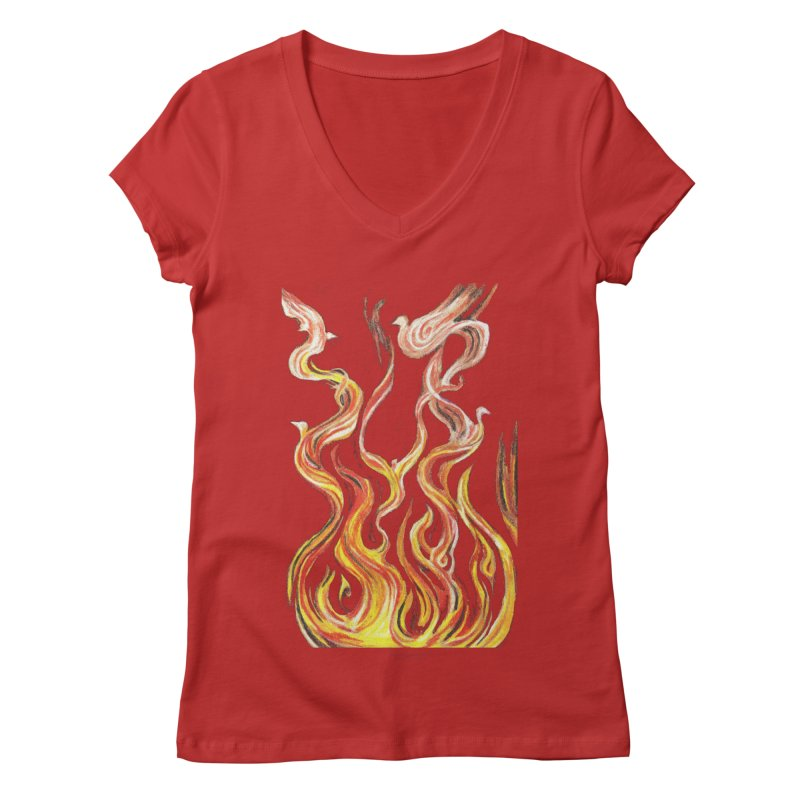 peace above the turmoil Women's Regular V-Neck by Elevated Space