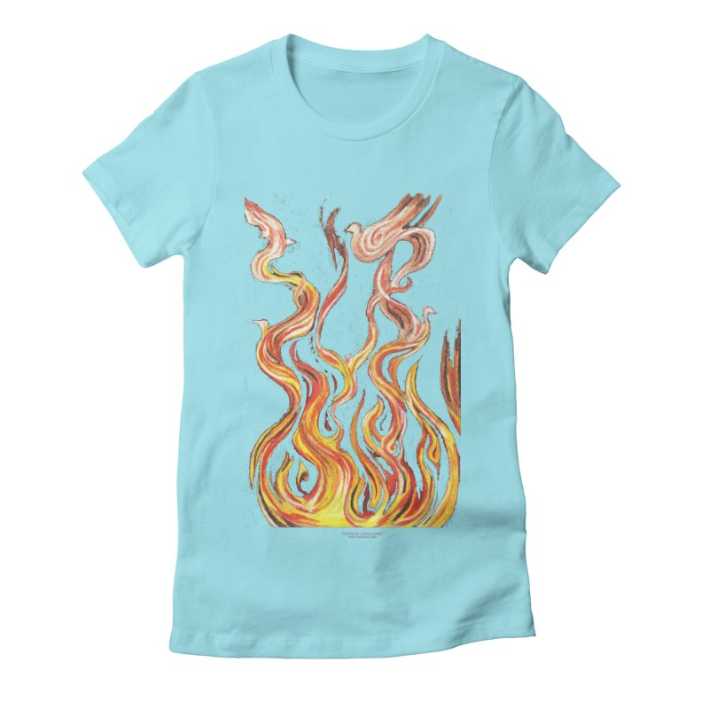 peace above the turmoil Women's Fitted T-Shirt by Elevated Space