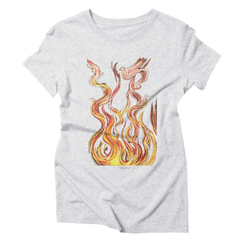peace above the turmoil Women's Triblend T-Shirt by Elevated Space