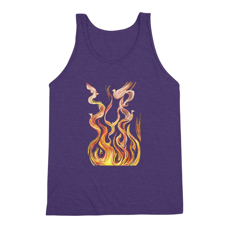peace above the turmoil Men's Triblend Tank by Elevated Space