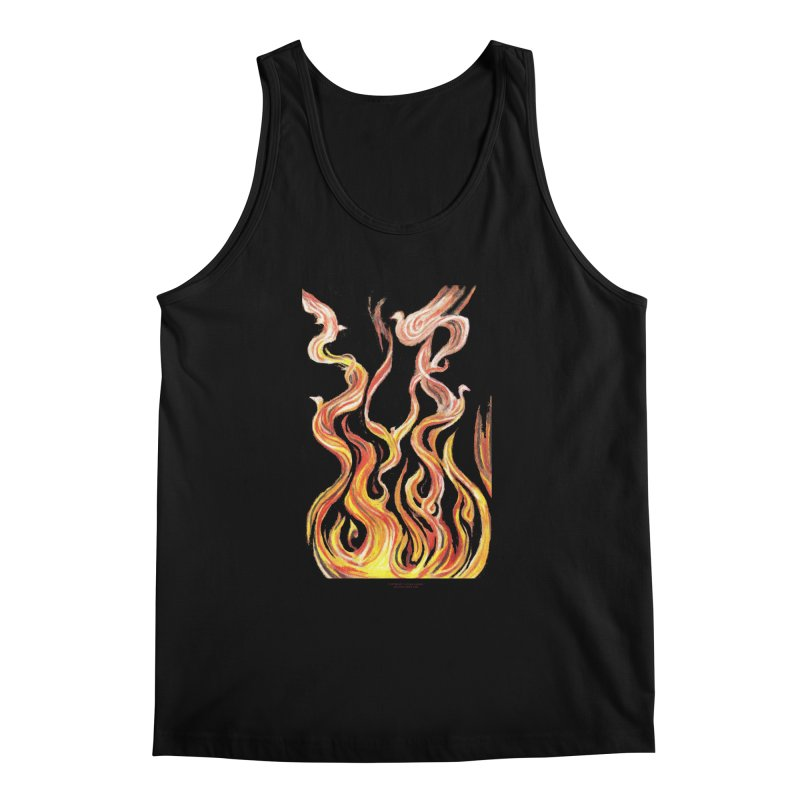 peace above the turmoil Men's Regular Tank by Elevated Space