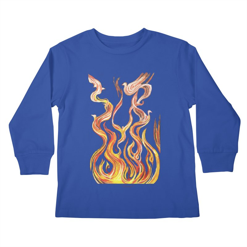 peace above the turmoil Kids Longsleeve T-Shirt by Elevated Space