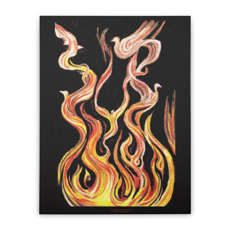 peace above the turmoil Home Stretched Canvas by Elevated Space