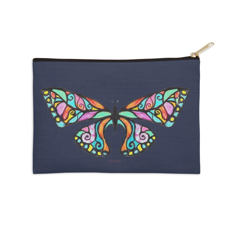 Butterfly Accessories Zip Pouch by Elevated Space