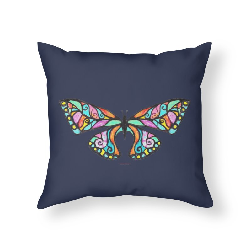 Butterfly Home Throw Pillow by Elevated Space