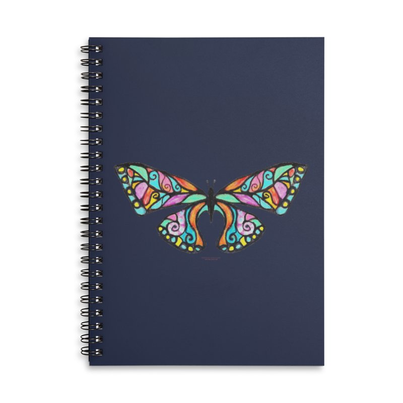 Butterfly Accessories Lined Spiral Notebook by Elevated Space