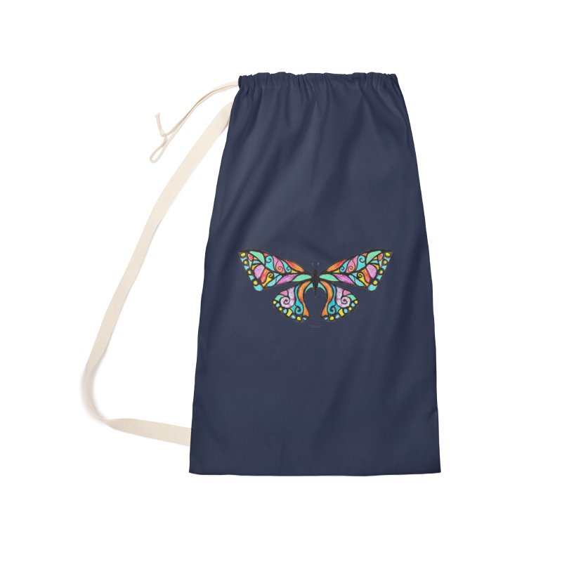 Butterfly Accessories Laundry Bag Bag by Elevated Space