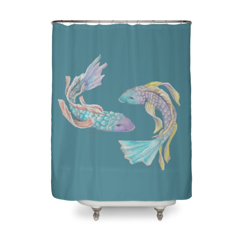 Koi Home Shower Curtain by Elevated Space