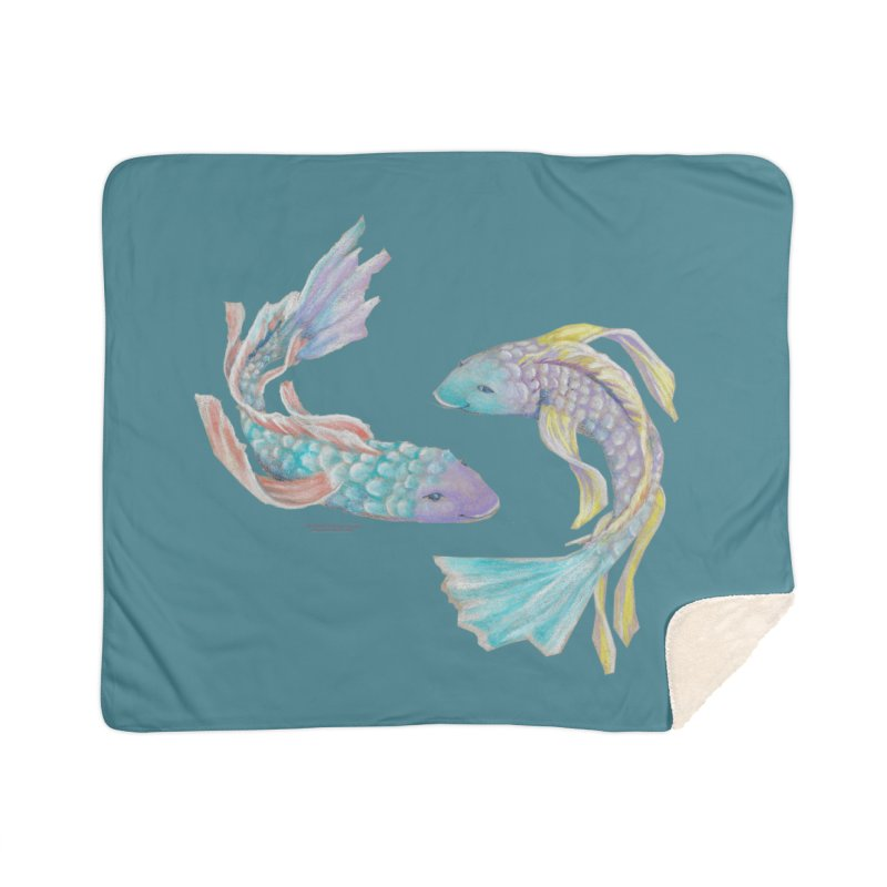 Koi Home Sherpa Blanket Blanket by Elevated Space