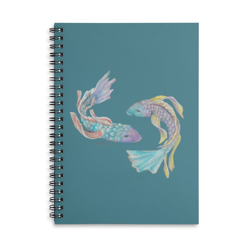 Koi Accessories Lined Spiral Notebook by Elevated Space