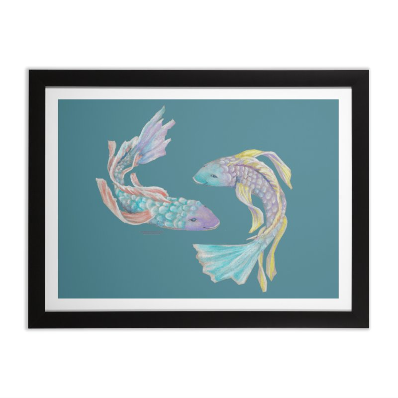 Koi Home Framed Fine Art Print by Elevated Space