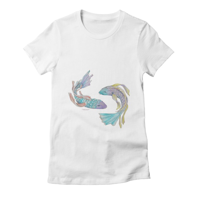 Koi Women's Fitted T-Shirt by Elevated Space
