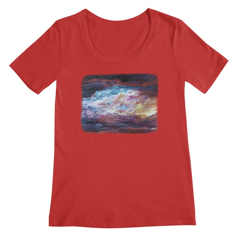 Clouds1 Women's Regular Scoop Neck by Elevated Space