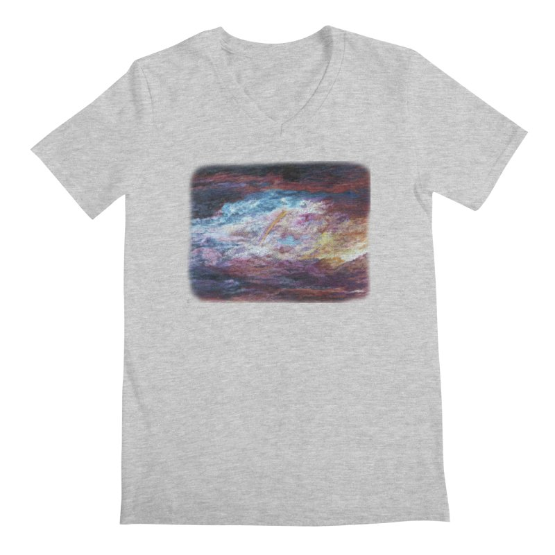 Clouds1 Men's Regular V-Neck by Elevated Space