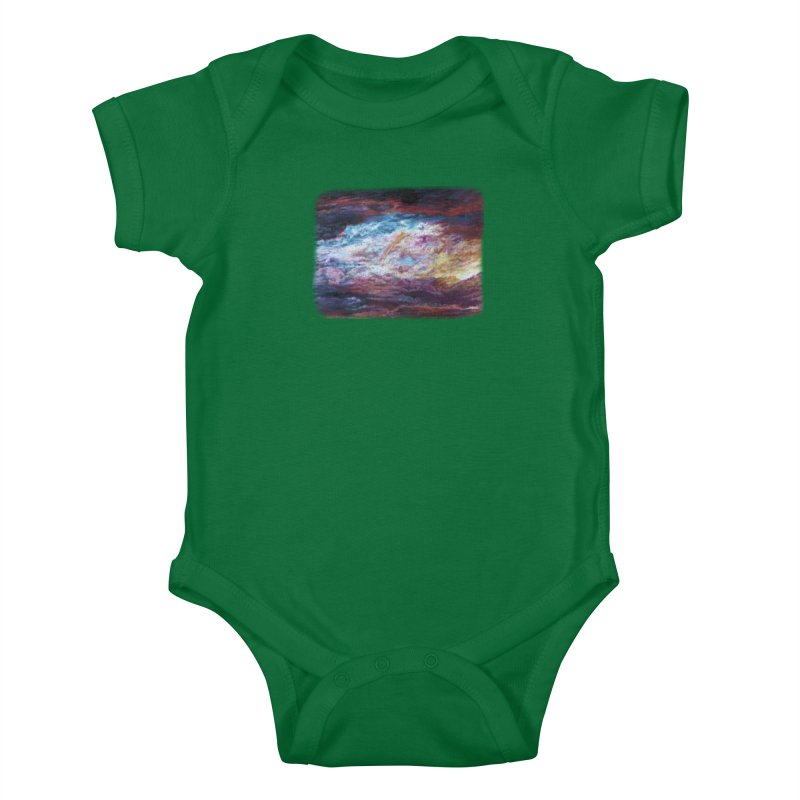 Clouds1 Kids Baby Bodysuit by Elevated Space