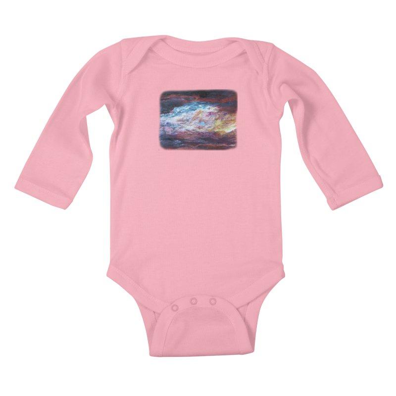 Clouds1 Kids Baby Longsleeve Bodysuit by Elevated Space